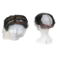 Ranch Mink Lane Bryant Clip on HAT Satin Bow Netting Tags