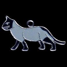 Sterling Silver Enamel Siamese Cat Charm