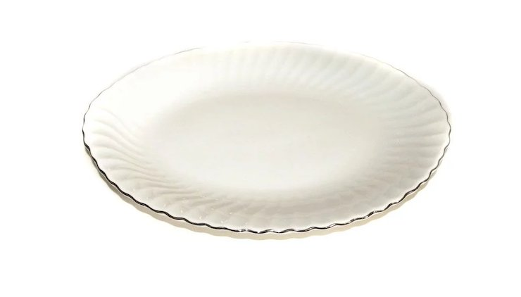 Syracuse China SILHOUETTE Wedding Ring Meat Platter 14 1/4\