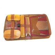 1920's Gillette SHAWMUT Razor Shaver Travel Personal Valet Grooming Kit Bakelite Set