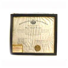 1918 Pharmacist License DIPLOMA Certificate NEW YORK STATE UNIVERSITY Regents  Pharmacy Medical