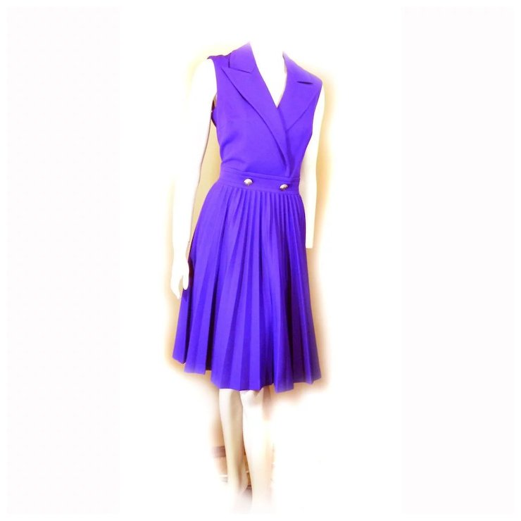 Butte Knit 1960s Purple POLYESTER Dress Size 14 Time To PARTY ...