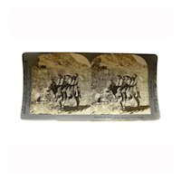 """Stereo View Card ALBUMEN 1906 E W Kelley """"Rocky Mountain Group Colorado"""""""