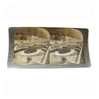 Stereo View Card ALBUMEN 1902 E W Kelley Rau Fairmount Park Philadelphia