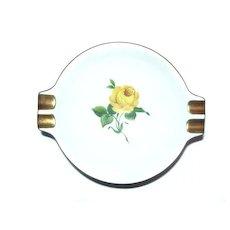 Kaiser CHARLOTTENBURG ashtray Yellow Roses Green Leaves