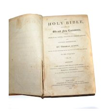 The Holy Bible 1811 Vol. III of 6 THOMAS SCOTT Leather Binding