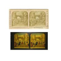 French Stereo Card Tissue * RARE * Jesus Brings The Cross RELIGIOUS