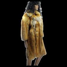 Red Fox Canadian Fur Coat Ladies CUSTOM MADE Size 36 Ca 1970s