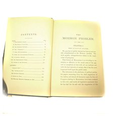 The Mormon Problem Book 1886 GREEN HARD COVER Rev. Lyford