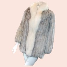 *FREE SHIP* Saga Blue Fox Coat 3/4 Length PURE LUXURY Two Colors Size 6