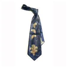 """40s Men's Tie Plumes 4 1/4"""" Wide SHARP"""