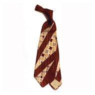 """VIntage Men's 40s Tie Necktie  4 1/4"""" Wide"""