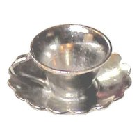 WELLS Sterling Charm Teacup With Saucer