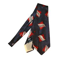 """1940s Bond Style Manor Silky Tie 4"""" Wide AWESOME COLORS! Blue Red White"""