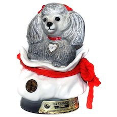 Jim Beam Kentucky Bourbon Poodle 1973 TIFFINY Decanter Handcrafted China