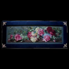 Antique Roses Yard Long Print Hothouse Treasures Chromolithograph