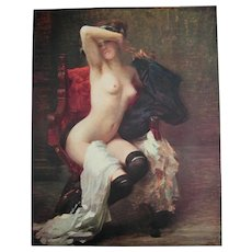 The First Pose Antique Nude Lady Print M Gallelli Victorian Fine Art c1912