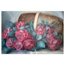 Antique Roses Painting Paul de Longpre Basket of Beauties