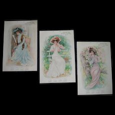 Antique Lady Calendar Leon Moran Roses Detroit
