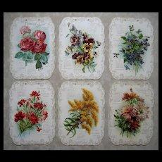 Antique Catherine Klein Calendar The Flower Show Die Cut Print s