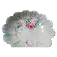 Antique Rosenthal Porcelain Bowl Hand Painted Roses Signed