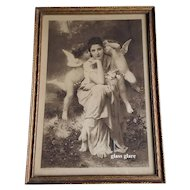 c1889 Lady Cupid Print Paris Exposition A Song of Spring W A  Bouguereau All Original