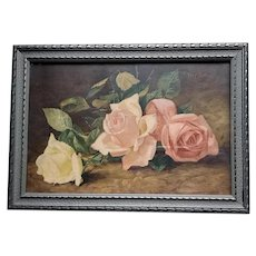 Antique Roses Print Patty Thum Chromolithograph