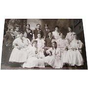 c1890 Graduation School Class Diploma Boy Girl Original Frame
