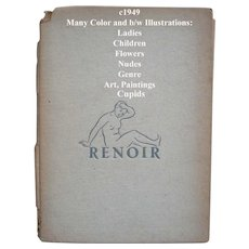 c1949 Renoir Book Lady Cupid Nude Children Nude Genre Print s Bookplates