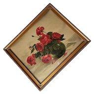 Antique Roses Print Marie Koupal Lusk XL Chromolithograph Victorian