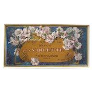 c1890s French Perfume Soap Label Double Violets Paris Advertising Print