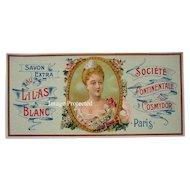 Antique Lady Lilacs Perfume Label Print French Antique