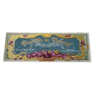 Antique Violets Perfume Label Print French c1890s Victorian