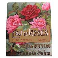 Set 3 Antique Perfume Label Print s Roses French Victorian Antique