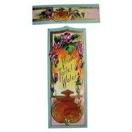 c1890s Perfume Label Violets Eisemann Pennsylvania Violet Toilet Water