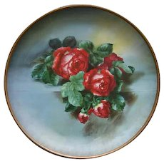 Vintage Roses Charger Plate Tin Stumm XL Victorian