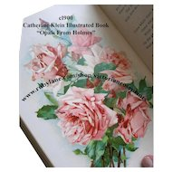 C Klein Opals from Holmes Book c1900 Antique Ten Chromolithographs Roses Pansies Violets Birds Vintage
