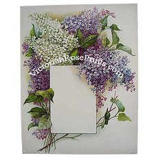 Antique Lilacs Print Chromolithograph Flower Print Lilac Floral Vintage