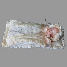 """4 ½"""" Tall Baby In Bunting Sack Presentation"""