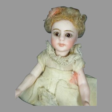 "4"" All Bisque Simon Halbig Type Doll"