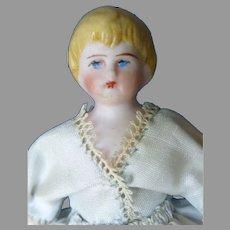 """4""""   Blond Bisque Child Doll"""