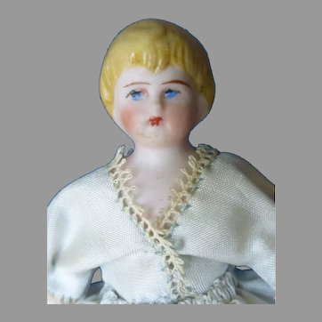 "4""   Blond Bisque Child Doll"