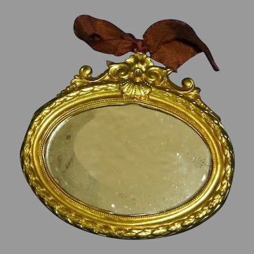 Ormolu Dollhouse Oval Wall Mirror
