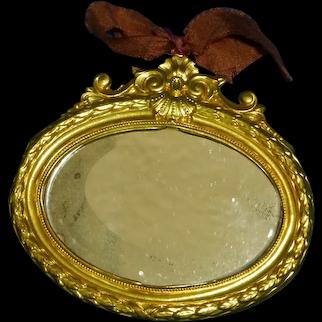 Ormolu Dollhouse Oval Wall Mirror
