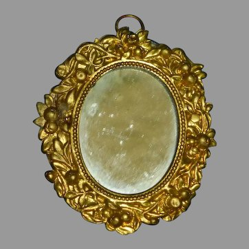 Ornate Ormolu Dollhouse Mirror