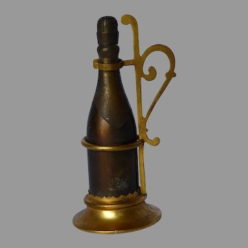 Champagne Bottle With Ormolu Stand