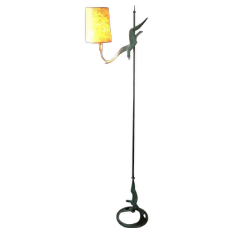 """WPA Robert Garret Thew c1928  adjustable height Bronze Floor Lamp """"Gulls"""""""