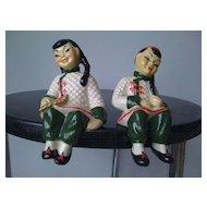 """Oriental """"Ceramic Arts"""" Figurines"""