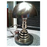Metal Deco Lamp Machine Age Deco