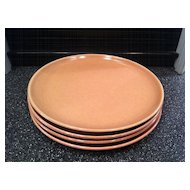 1930's Russel Wright Coral American Modern Bread and Butter Plates